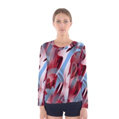 Blue and red smoke Women s Long Sleeve Tee