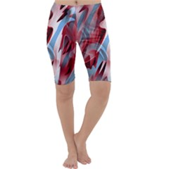 Blue and red smoke Cropped Leggings
