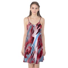 Blue and red smoke Camis Nightgown