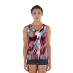 Blue and red smoke Women s Sport Tank Top