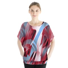 Blue and red smoke Blouse