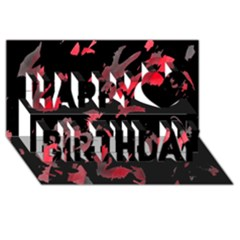 Painter was here  Happy Birthday 3D Greeting Card (8x4)