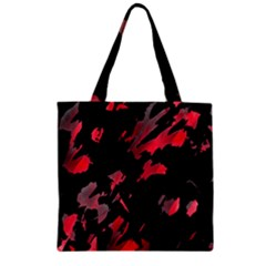 Painter was here  Zipper Grocery Tote Bag