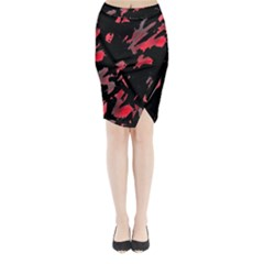 Painter Was Here  Midi Wrap Pencil Skirt