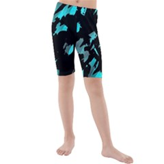 Painter was here - cyan Kids  Mid Length Swim Shorts