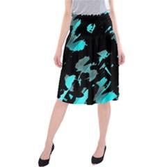 Painter was here - cyan Midi Beach Skirt