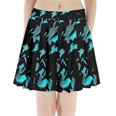Painter was here - cyan Pleated Mini Skirt