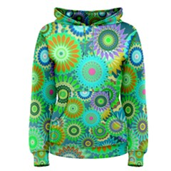 Funky Flowers A Women s Pullover Hoodie