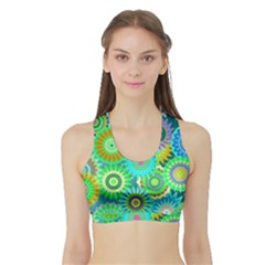 Funky Flowers A Sports Bra with Border