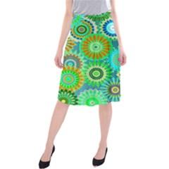 Funky Flowers A Midi Beach Skirt