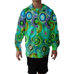 Funky Flowers A Hooded Wind Breaker (Kids)