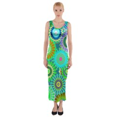 Funky Flowers A Fitted Maxi Dress