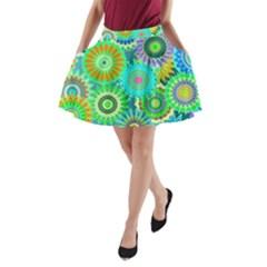 Funky Flowers A A-Line Pocket Skirt