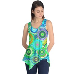 Funky Flowers A Sleeveless Tunic