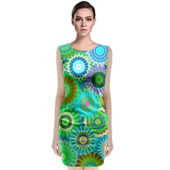 Funky Flowers A Classic Sleeveless Midi Dress