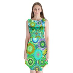 Funky Flowers A Sleeveless Chiffon Dress