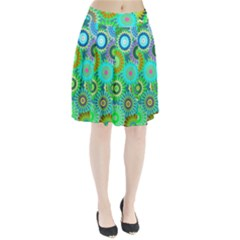 Funky Flowers A Pleated Skirt