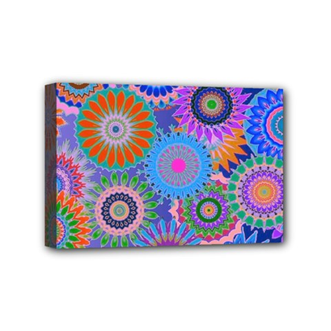 Funky Flowers B Mini Canvas 6  x 4