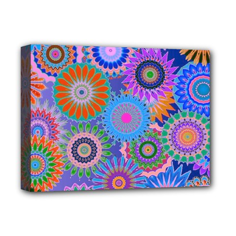 Funky Flowers B Deluxe Canvas 16  x 12