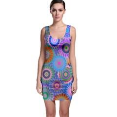 Funky Flowers B Sleeveless Bodycon Dress