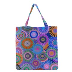 Funky Flowers B Grocery Tote Bag
