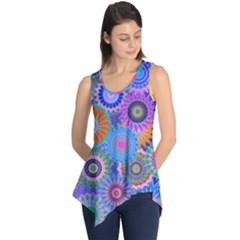 Funky Flowers B Sleeveless Tunic
