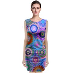 Funky Flowers B Classic Sleeveless Midi Dress