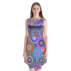 Funky Flowers B Sleeveless Chiffon Dress