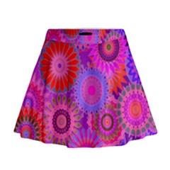 Funky Flowers C Mini Flare Skirt