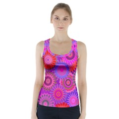 Funky Flowers C Racer Back Sports Top