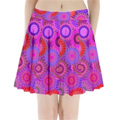 Funky Flowers C Pleated Mini Skirt