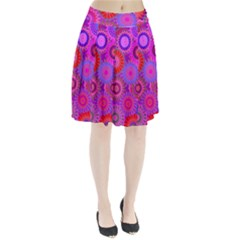 Funky Flowers C Pleated Skirt
