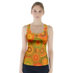 Funky Flowers D Racer Back Sports Top