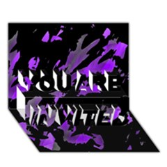 Painter was here - purple YOU ARE INVITED 3D Greeting Card (7x5)