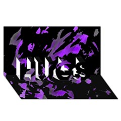 Painter was here - purple HUGS 3D Greeting Card (8x4)