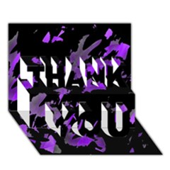 Painter was here - purple THANK YOU 3D Greeting Card (7x5)