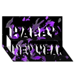 Painter was here - purple Happy New Year 3D Greeting Card (8x4)