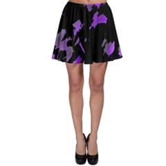 Painter was here - purple Skater Skirt