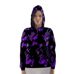 Painter was here - purple Hooded Wind Breaker (Women)
