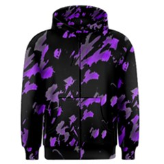 Painter was here - purple Men s Zipper Hoodie