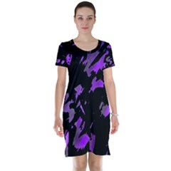 Painter was here - purple Short Sleeve Nightdress