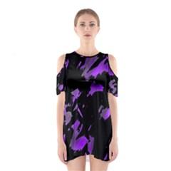 Painter was here - purple Cutout Shoulder Dress
