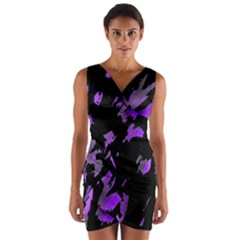 Painter was here - purple Wrap Front Bodycon Dress