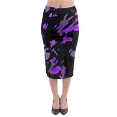 Painter was here - purple Midi Pencil Skirt