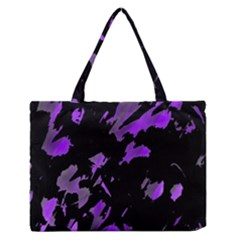 Painter Was Here   Purple Medium Zipper Tote Bag