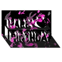 Painter was here - magenta Happy Birthday 3D Greeting Card (8x4)