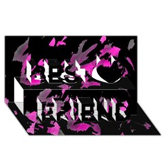Painter was here - magenta Best Friends 3D Greeting Card (8x4)
