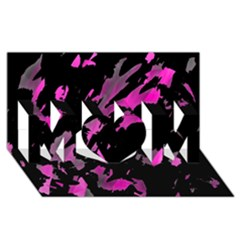 Painter was here - magenta MOM 3D Greeting Card (8x4)