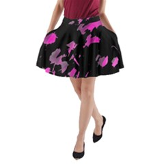 Painter was here - magenta A-Line Pocket Skirt
