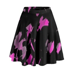 Painter was here - magenta High Waist Skirt